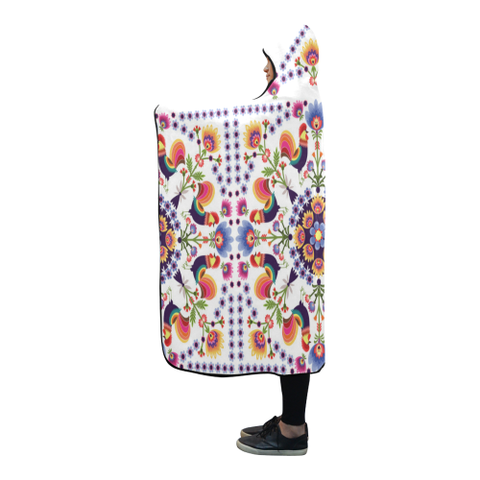 Image of Poland Polish Folk Art Hooded Blanket 03 H7 | Love The World