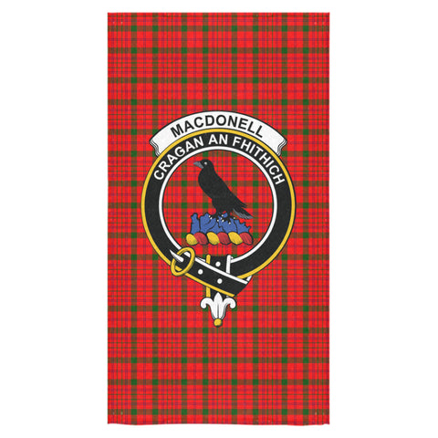 MacDonnell of Keppoch Modern Tartan Towel Clan Badge NN5