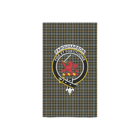 Farquharson Weathered Tartan Towel Clan Badge NN5