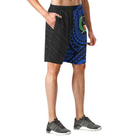 Pohnpei Polynesian Blue Beach Shorts | Polynesian Clothings