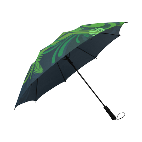 Image of Special Edition of New Zealand Fern - Fern Semi-Automatic Foldable Umbrella