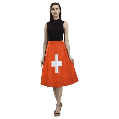 SWITZERLAND 01 FLAG AOEDE CREPE SKIRT A1