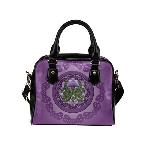 Thistle Scottish Luxury Purple Shoulder Handbag - Bn01