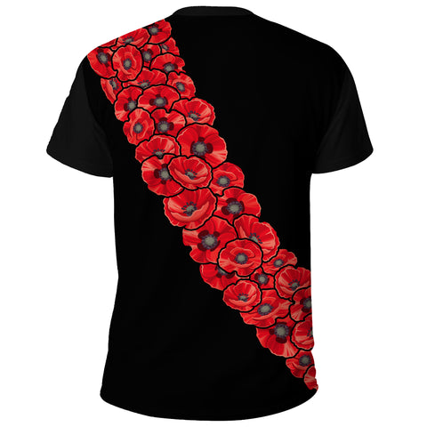 Anzac Day 2021 - -Shirt Poppy Flower Lest We Forget A65