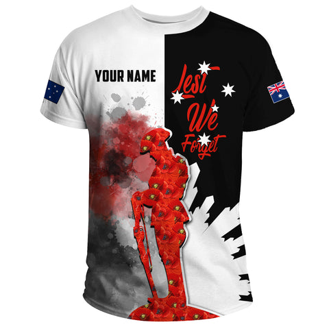 Anzac Day 2021 - T-Shirt Personalization Lest We Forget A13