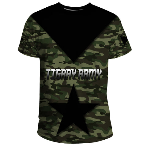 1stTheWorld T-Shirt - Army Tigray