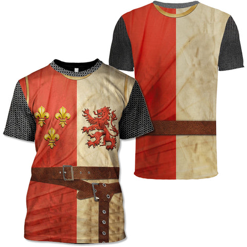 Image of Heraldic Knight Suit T-shirt