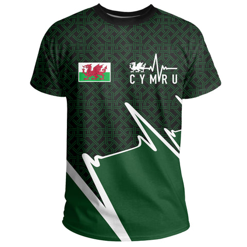 Image of Wales T-shirt - Cymru In My Heartbeat | Clothing