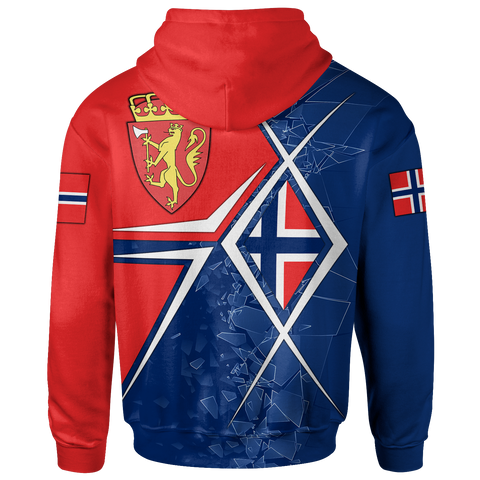 Norway Zip-Up Hoodie - Norway Legend