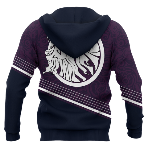 Scotland Hoodie (Zip-up) - Scottish Lion - BN18