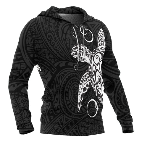 Hawaii Turtle All Over Hoodie - Polynesian Style Bn10