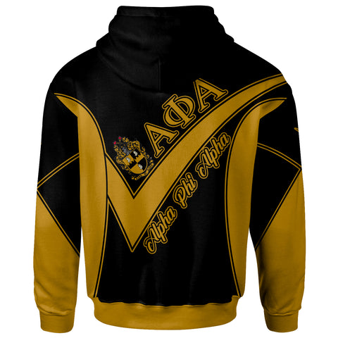 African Alpha Phi Alpha Zip Hoodie - Spirit Version - BN12