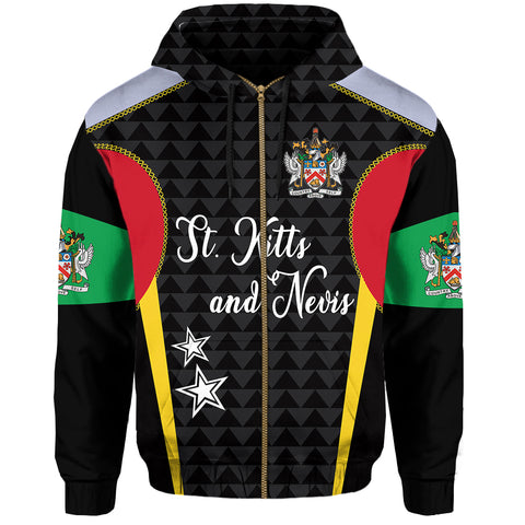 Image of Saint Kitts and Nevis Zip Hoodie Exclusive Edition | 1sttheworld.com