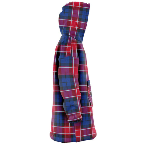 Image of Graham of Menteith Red Snug Hoodie - Unisex Tartan Plaid Right