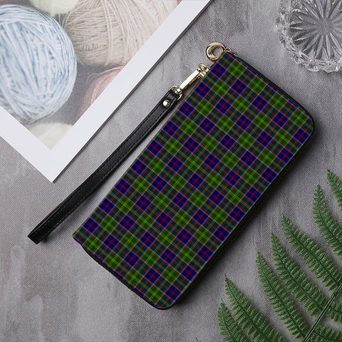 AYRSHIRE DISTRICT TARTAN ZIPPER WALLET HJ4
