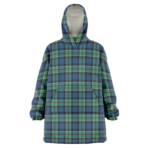 Image of Leslie Hunting Ancient Snug Hoodie - Unisex Tartan Plaid Front