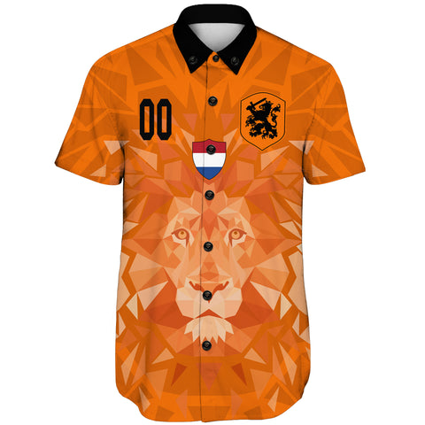 (Custom) Netherlands Lion Short Sleeve Shirt Euro Soccer A27