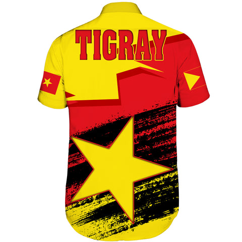 Tigray Flag And Map Special Short Sleeve Shirt A27