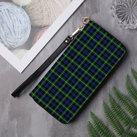 Image of BAILLIE MODERN TARTAN ZIPPER WALLET HJ4