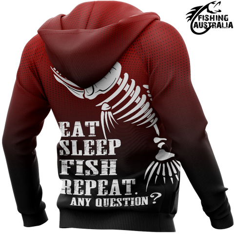 Fishing Australia - Eat Sleep Fish Repeat Hoodie A7