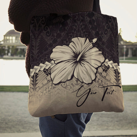 Image of (Custom) Polynesian Tote Bag Hibiscus Personal Signature A02