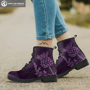 Scotland Leather Boots - Scottish Thistle Boots | 1sttheworld.com