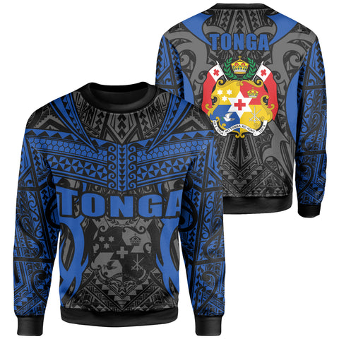 Tonga Sweatshirt - Kingdom of Tonga Black Blue J0
