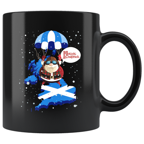 Image of Scotland Christmas Nollaig Chridheil Black Mug | HOT Sale