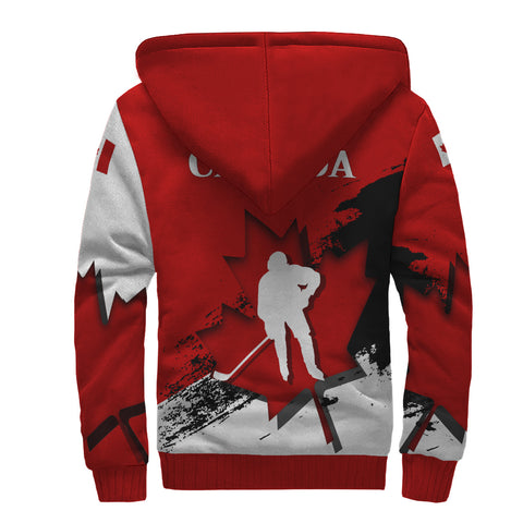 Image of Canada Sherpa Hoodie - Maple Leaf Hockey | Love The World