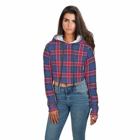 Graham of Menteith Red Tartan Crop Hoodie
