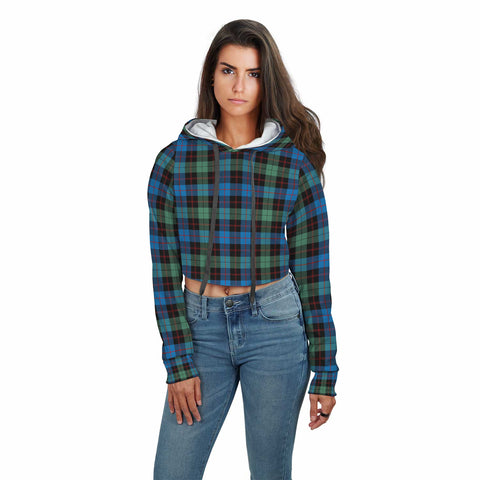 Image of Guthrie Ancient Tartan Crop Hoodie