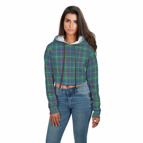 Image of Inglis Ancient Tartan Crop Hoodie