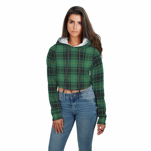Image of MacArthur Ancient Tartan Crop Hoodie