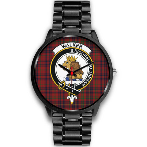 Image of Walker Clan Badge Tartan Leather/steel Watch - BN