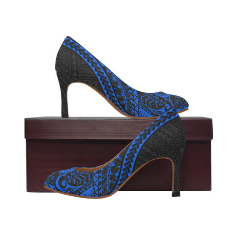Polynesian 1st High Heels (Blue) A6 |Footwear| 1sttheworld