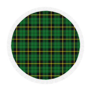 WALLACE HUNTING - GREEN TARTAN BEACH BLANKET th8