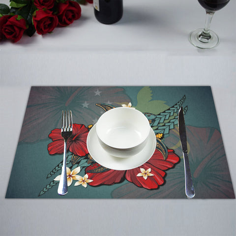 Papua New Guinea Placemat - Blue Turtle Tribal A02