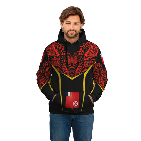 Wallis and Futuna Unisex Hoodie - Tribal Style A7