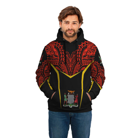 Zambia Unisex Hoodie - Tribal Style A7