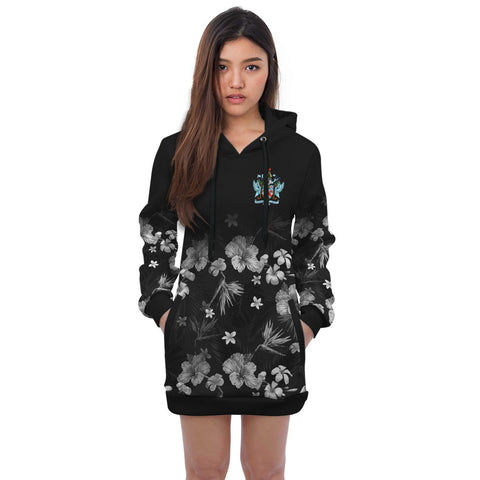 Saint Kitts and Nevis Hooodie Dress Special Hibiscus | Women Clothing