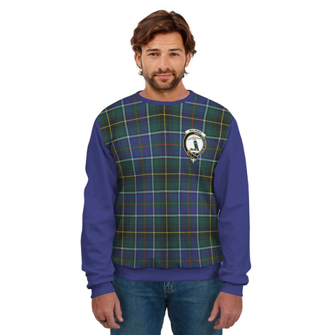 Image of MacInnes Clans Tartan All Over Sweater - Sleeve Color