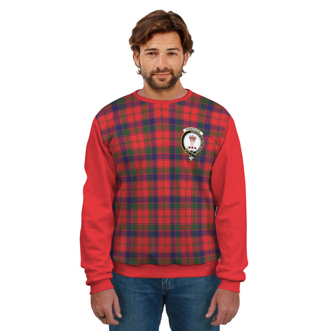 Robertson Clans Tartan All Over Sweater - Sleeve Color
