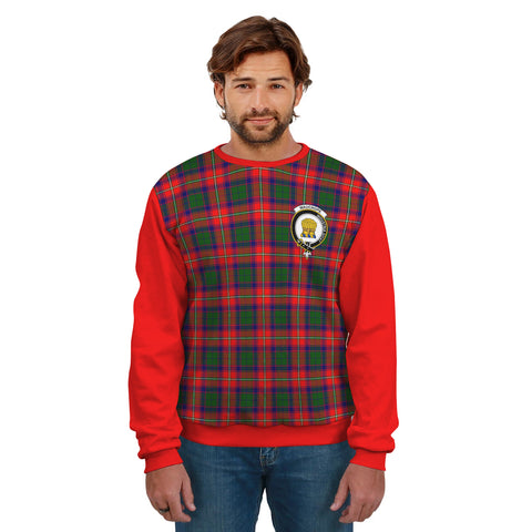 Image of Wauchope (or Waugh) Clans Tartan All Over Sweater - Sleeve Color