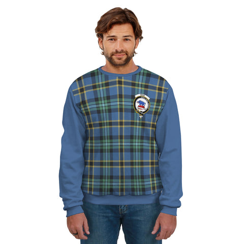 Weir Clans Tartan All Over Sweater - Sleeve Color