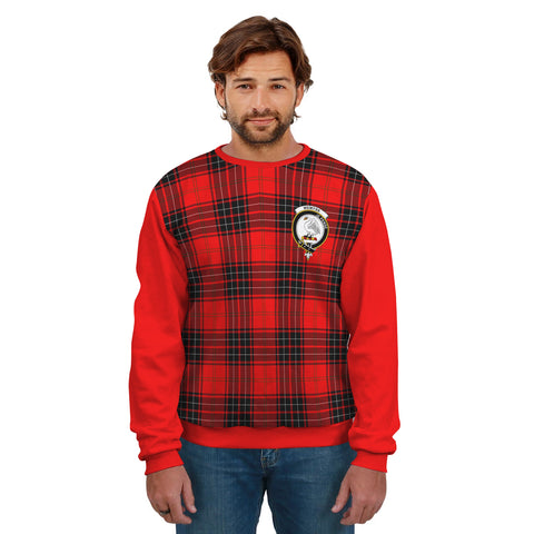 Wemyss Clans Tartan All Over Sweater - Sleeve Color