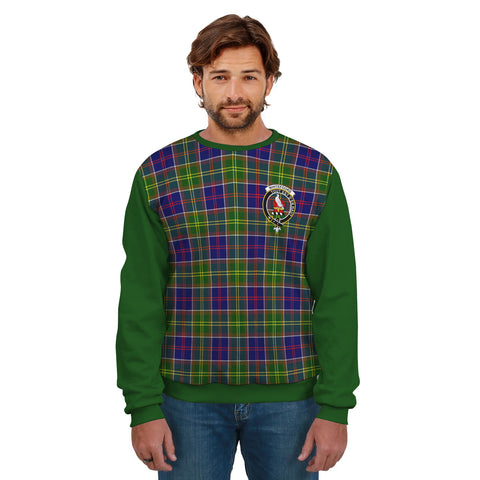 Image of Whiteford Clans Tartan All Over Sweater - Sleeve Color