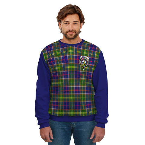 Whitelaw Clans Tartan All Over Sweater - Sleeve Color