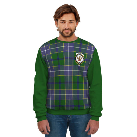 Image of Wishart Clans Tartan All Over Sweater - Sleeve Color