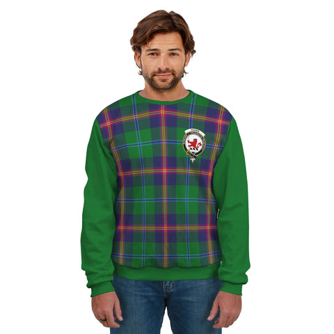 Young Clans Tartan All Over Sweater - Sleeve Color