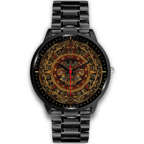 Mexico Watch Aztec Sun Stone Tattoo A77